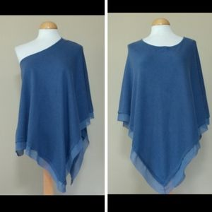 Chico's Lightweight Blue Poncho Size S/M